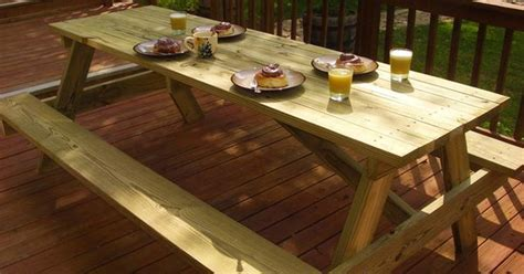 make your own picnic bench free woodworking plans build your own picnic table