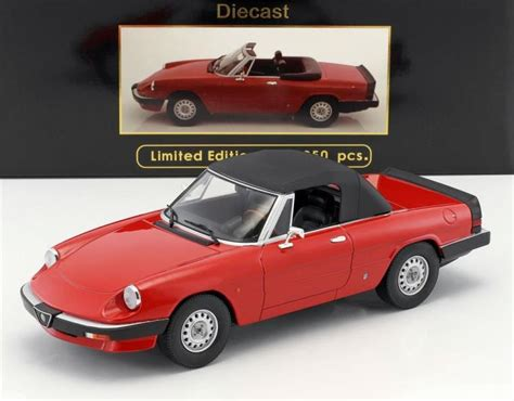 Die Cast Metal Model Driving Die Cast 155 Truck 1983 alfa romeo spider 2 0 by kk diecast in 1 18 scale