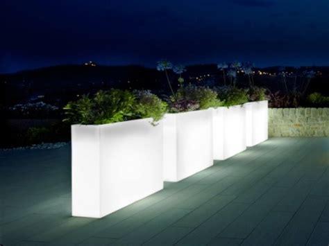 urban illuminated trough planter passion  pots