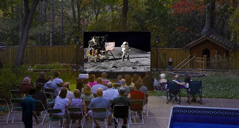 Backyard Theater Screen by 12 Foot Backyard Theater System W Optoma 720p Projector