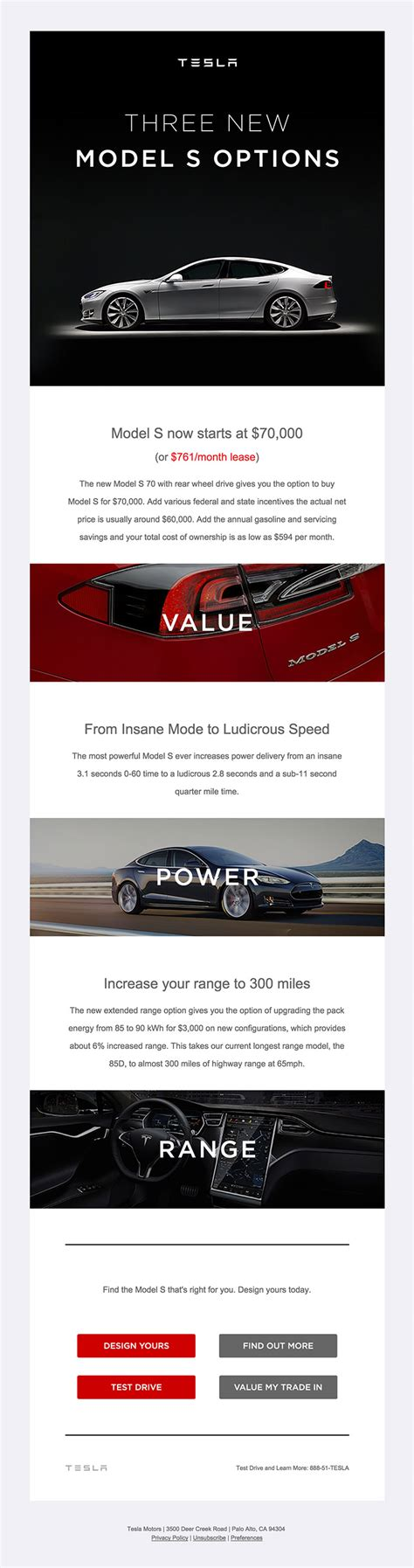 tesla model s choices html email gallery