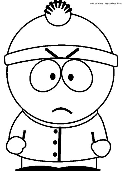 South Park Color Page Cartoon Color Pages Printable South Park Coloring Pages