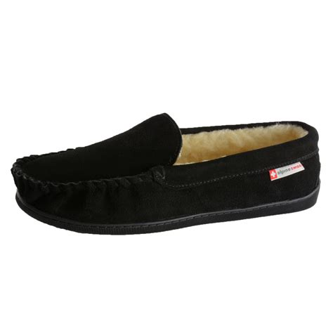 where house shoes alpine swiss sabine womens suede shearling moccasin slippers house shoes slip on ebay