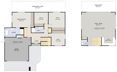 nz house plans 4 bedroom cube house plans numberedtype