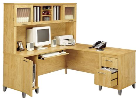 Bush Somerset L Shaped Desk With Hutch For Sale Lower L Shaped Desk On Sale