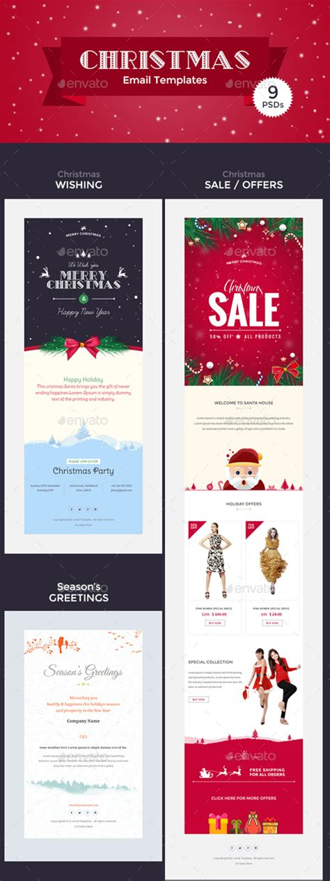 photoshop template offer christmas graphics for festive designs 2017 gt3 themes