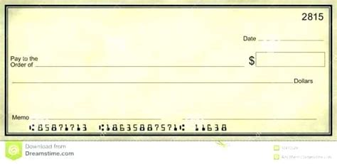 Mock Check Template Mock Cheque Template