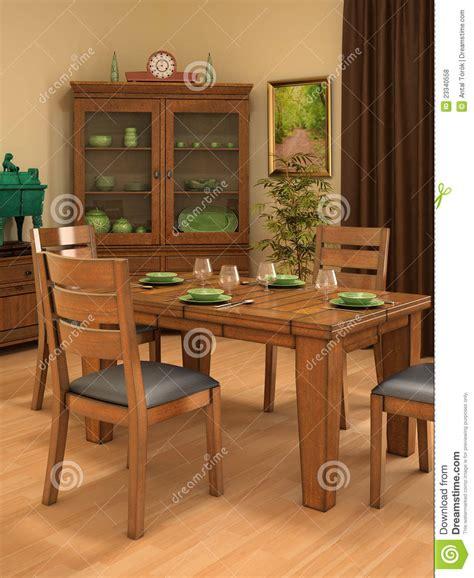 sala da pranzo rustica sala da pranzo rustica illustrazione di stock