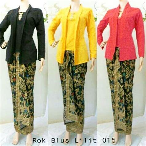 Setelan Kutubaru Batik jual setelan batik kutubaru rok lilit 015 seri warna