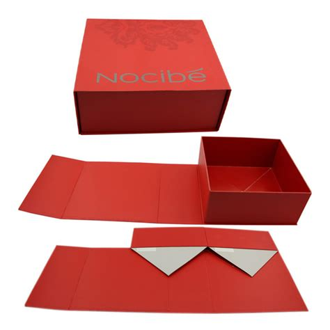 Paper Folding Box - gift box with magnetic closure luxury design folding paper