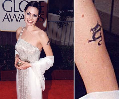 angelina jolie tattoos removed had a in the 1990s but has