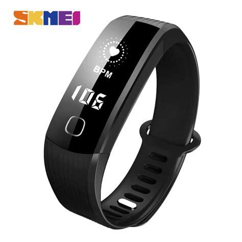 Harga Jam Tangan Merk Skmei skmei jam tangan led gelang fitness tracker w05 black