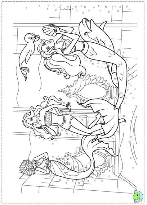 coloring pages of barbie mermaid tale barbie in a mermaid tale coloring page dinokids org
