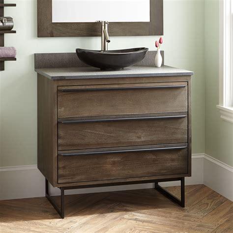 dark gray bathroom vanity 36 quot cael teak vessel sink vanity rustic brown vessel