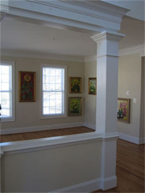 Half Wall Between Living Room And Foyer Custom Colonial Rockville Maryland