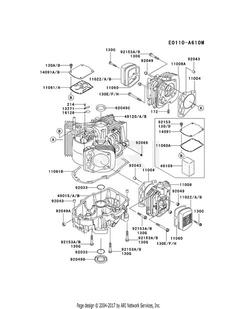 kawasaki fhv fs  stroke engine fhv parts diagram