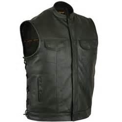 Premium Vest Zipper Harley Davidson 3 mens anarchy leather motorcycle vest zipper