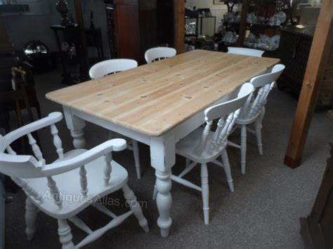 antiques atlas shabby chic farmhouse table and six chairs