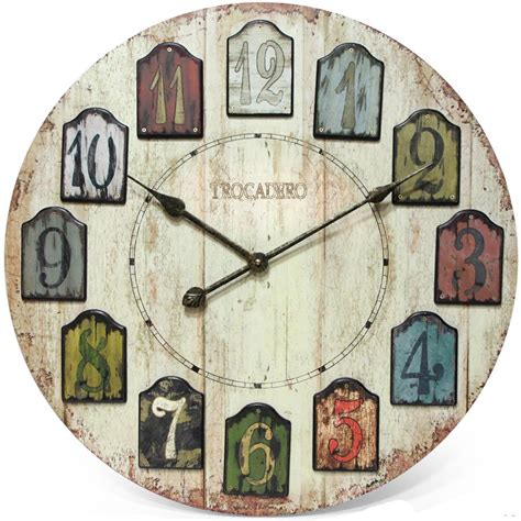 unique large wall clocks decorative wall clock weathered plank in wall clocks