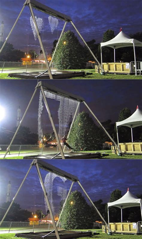 water swing awesome waterfall swing displays images in mid air won t