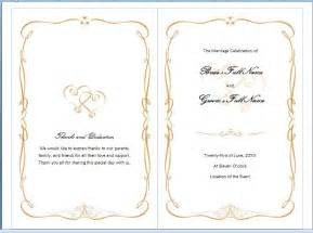 wedding program template microsoft word microsoft word wedding program templates best template idea