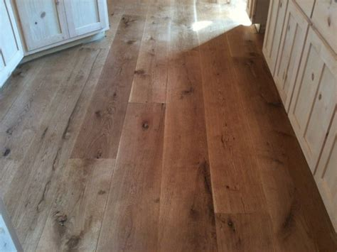 Wide Plank Oak Flooring Character 10 Quot Wide Plank White Oak Hardwood Flooring Rustic Kitchen Atlanta By Oak Broad