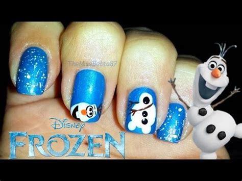 nail art olaf tutorial disney frozen olaf nail art youtube