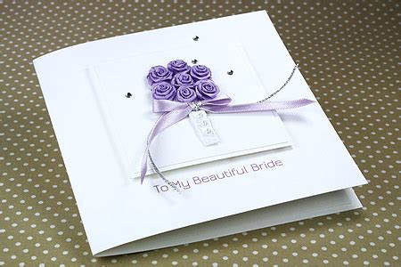 Handmade Wedding Cards Uk - handmade wedding card quot to my beautiful quot