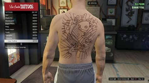 tattoo gta v online image tattoo gtav online male torso carp outline jpg