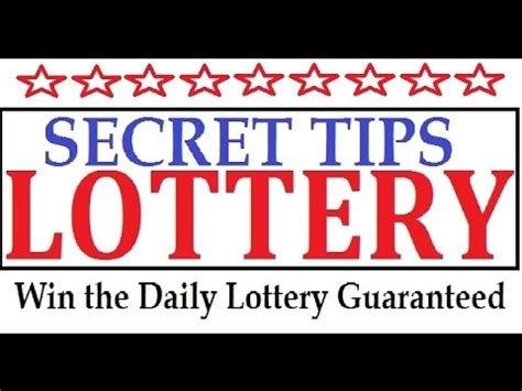 7 Tips On Winning The Lotto by Secret Tips To Win The Lottery Guaranteed Winning