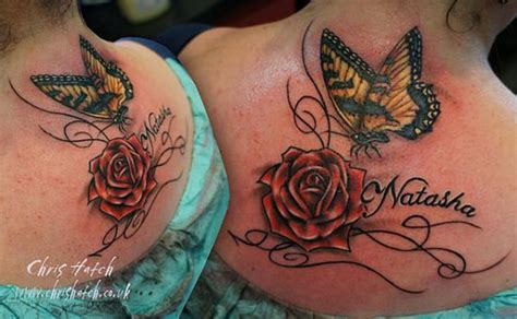 rose name tattoos designs 37 inspiring butterfly and tattoos