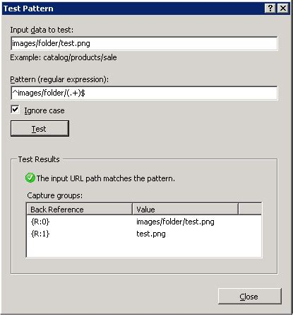 Test Pattern Rule | rewrite subfolder to subdomain in web config asp net c