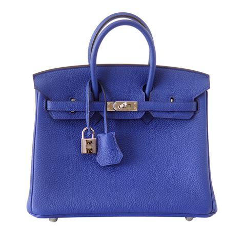 New Arrival Hermes Birkin Togo Combination hermes birkin bag 25cm blue electric togo palladium
