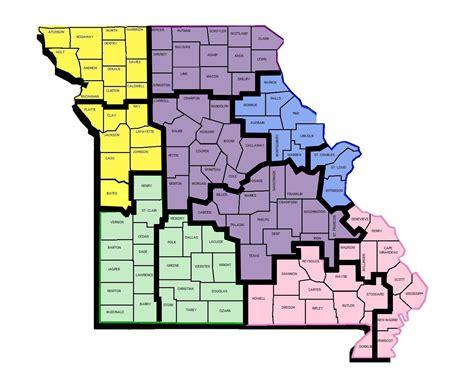 missouri department of mental health map of regional