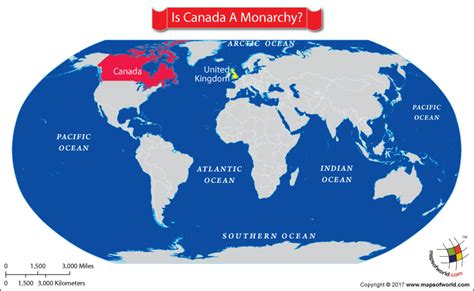 map of the world canada is canada a monarchy answers