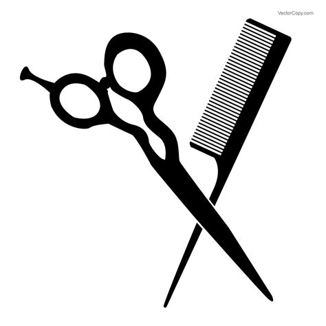 and scissors barbershop pictogram scissors and comb free vector clipart image 133 vectorcopy
