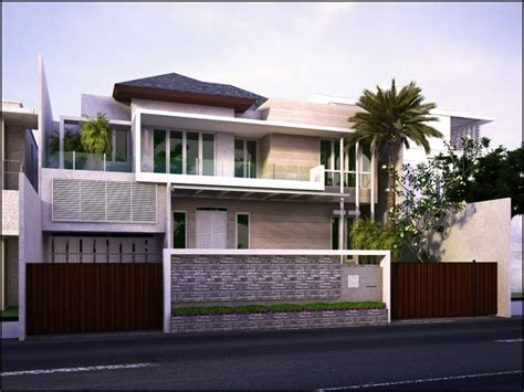 indonesia minimalis home design contemporary exterior