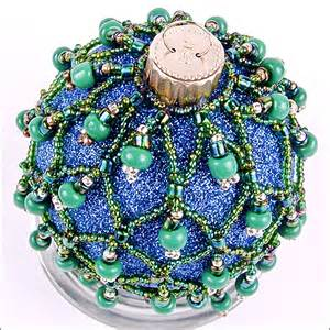 christmas ornament countdown beaded glass ball the