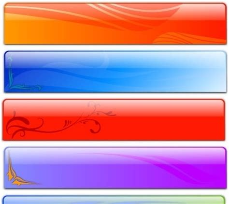 free header templates free vector glass header designs fancy free vector in