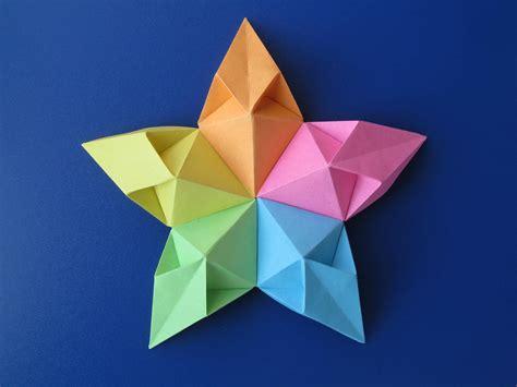 Origami Paper Squares - stella aquilone kite modular origami no cuts no
