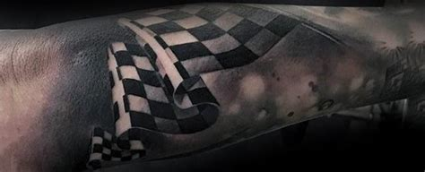 racing tattoos for men 40 checkered flag ideas for racing designs