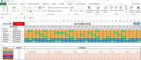 calendario 2016 escala escala de turno para calendario 2016 planilha de escala de