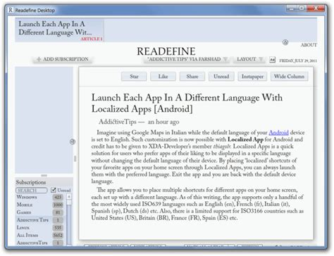 reading layout view definition readefine desktop google reader desktop client with