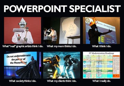 Powerpoint Meme - the sardonic management consultant unleashing world