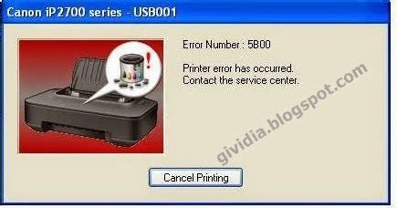 Printer Canon Ip2770 Di Tasikmalaya mengatasi error 5b00 pada printer canon ip2770