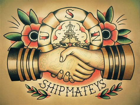 items similar to sailor handshake traditional tattoo flash