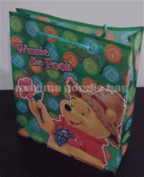 Tas Ulang Tahun Anak Model Serut Tempat Box Nasi Karakter Unik tas plastik souvenir ultah goodie bag ultah anak