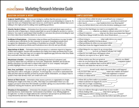 the marketing research interview guide sellingbrew