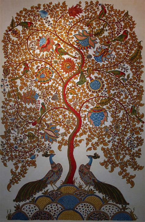 biography of indian artist tree of life kalamkari painting the 3000 yr old ancient