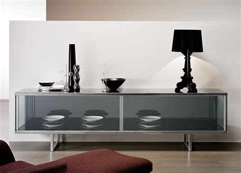 Glass Sideboards tonelli broadway large glass sideboard